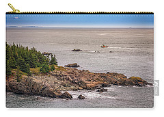 Carry-all Pouch featuring the photograph Steaming Through Quoddy Narrows by Rick Berk