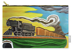 Carry-all Pouch featuring the painting Steaming West Bound by Margaret Harmon