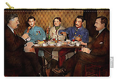 Carry-all Pouch featuring the photograph Steampunk - Bionic Three Having Tea 1917 by Mike Savad
