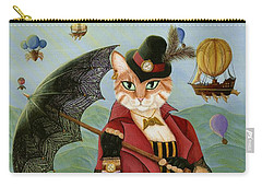 Steampunk Cat Gal - Victorian Cat Carry-all Pouch