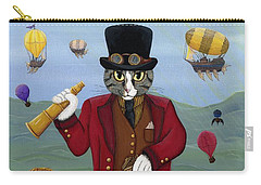 Steampunk Cat Guy - Victorian Cat Carry-all Pouch
