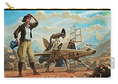 Steampunk Girl With Spaceship Carry-all Pouch