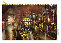 Carry-all Pouch featuring the photograph Steampunk - Think Tanks by Mike Savad