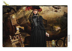 Steampunk Time Traveler Carry-all Pouch by Shanina Conway