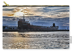 Carry-all Pouch featuring the photograph Steamship William G. Mather - 1 by Mark Madere