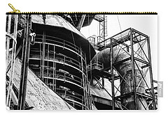 Steel Mill In Black And White - Bethlehem Carry-all Pouch by Bill Cannon