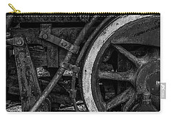 Steel Wheels In Monochrome Carry-all Pouch