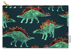 Stegosaurus Carry-all Pouch by Varpu Kronholm