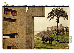Carry-all Pouch featuring the photograph Stelae In The Park - Miraflores Peru by Mary Machare