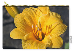 Carry-all Pouch featuring the photograph Stella De Oro And Morning Dew by Sheila Brown