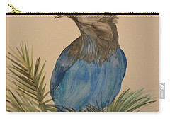 Carry-all Pouch featuring the painting Stellar Jay - Summer #2 by Maria Urso