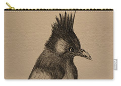 Stellar's Jay - Charcoal Carry-all Pouch by Maria Urso