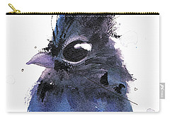 Carry-all Pouch featuring the painting Steller Jay by Dawn Derman