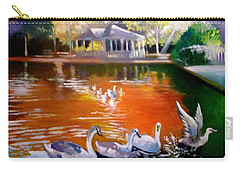 Carry-all Pouch featuring the painting Stephens Green Dublin Ireland by Paul Weerasekera