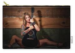 Stephanie W/guitar Sitting Carry-all Pouch