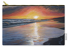 Carry-all Pouch featuring the painting Stephanie's Sunset by Donna Tuten