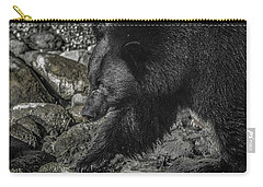 Stepping Into The Creek Black Bear Carry-all Pouch
