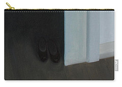 Carry-all Pouch featuring the painting Stepping Into The Light? by Tone Aanderaa