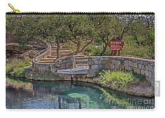 Carry-all Pouch featuring the photograph Steps Leading To The Blue Hole by Sue Smith