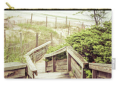 Carry-all Pouch featuring the photograph Steps To Lake Michigan by Joel Witmeyer