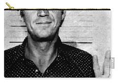 Steve Mcqueen Mug Shot Vertical Carry-all Pouch