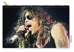 Steven Tyler  Carry-all Pouch by Taylan Apukovska