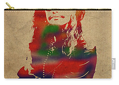 Steven Tyler Watercolor Portrait Aerosmith Carry-all Pouch