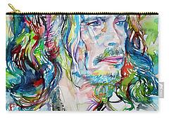 Steven Tyler - Watercolor Portrait Carry-all Pouch