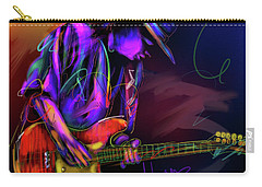 Carry-all Pouch featuring the painting Stevie Ray Vaughan by DC Langer