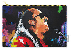 Carry-all Pouch featuring the painting Stevie Wonder Live by Richard Day