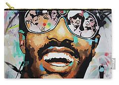 Carry-all Pouch featuring the painting Stevie Wonder Portrait by Richard Day