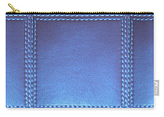 Stiched Leather Look Blue Abstract Wall Decorations By Navinjoshi At Fineartamerica.com Download Jpg Carry-all Pouch