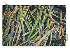Stick Pile At Retzer Nature Center Carry-all Pouch by Jennifer Rondinelli Reilly - Fine Art Photography