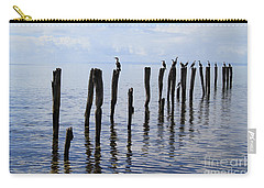 Carry-all Pouch featuring the photograph Sticks Out To Sea by Stephen Mitchell