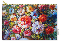 Still Life Colourful Flowers In Bloom Carry-all Pouch