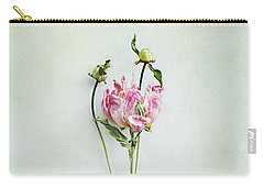 Still Life Of A Peony With Texture Overlay Carry-all Pouch