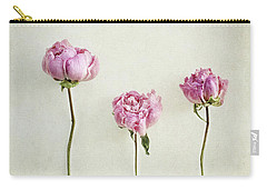 Still Life Of Dried Peonies With Texture Overlay Carry-all Pouch