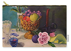 Still Life On Lace Carry-all Pouch