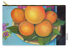Still Life Oranges And Grapefruit Carry-all Pouch by Marlene Book