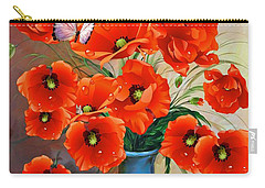 Still Life Poppies Carry-all Pouch