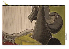 Still Life With A Black Horse- Cubism Carry-all Pouch