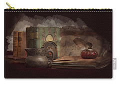 Still Life With Antique Books, Silver Pitcher And Inkwell Carry-all Pouch