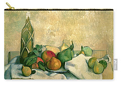 Still Life With Bottle Of Liqueur Carry-all Pouch by Paul Cezanne
