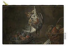 Still Life With Dead Pheasant Carry-all Pouch by Jean-Baptiste-Simeon Chardin