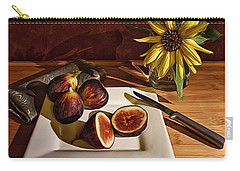 Still Life With Flower And Figs Carry-all Pouch