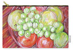 Still Life With Fruits. Harvest Time.painting  Carry-all Pouch