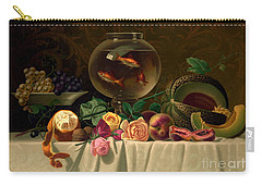 Still Life With Goldfish 1873 Carry-all Pouch by Padre Art