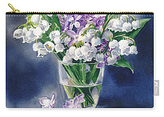 Still Life With Lilacs And Lilies Of The Valley Carry-all Pouch