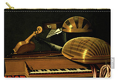 Still Life With Musical Instruments And Books Carry-all Pouch