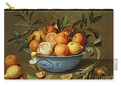 Still Life With Oranges And Lemons In A Wan-li Porcelain Dish  Carry-all Pouch
